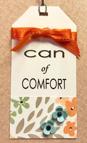 Tag for Can of Comfort / Gift-in-a-Can: Fill, Seal, & Tag It  (Part 4) / www.HoneycombOasis.com