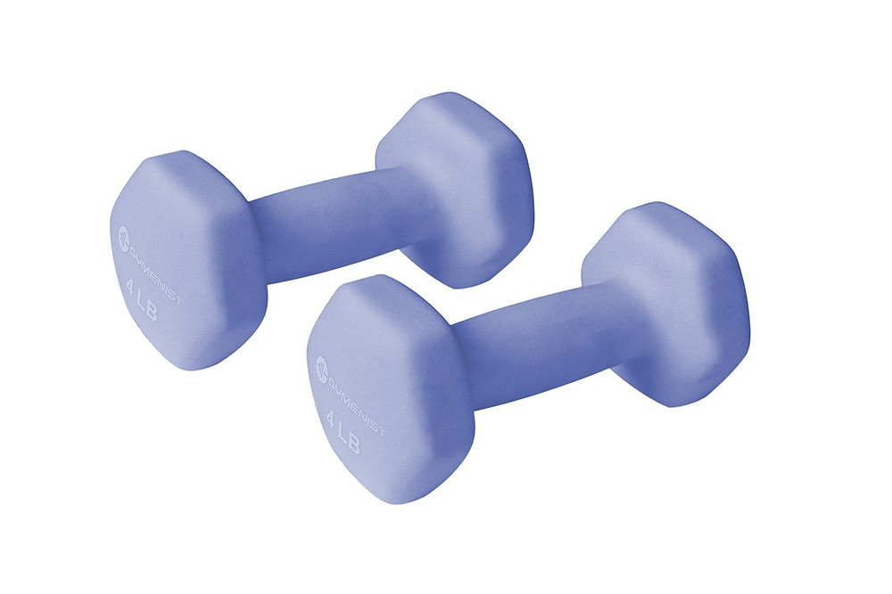 2 blue 4-pound hand weights / Setting Up for Success in Weight Loss / www.HoneycombOasis.com