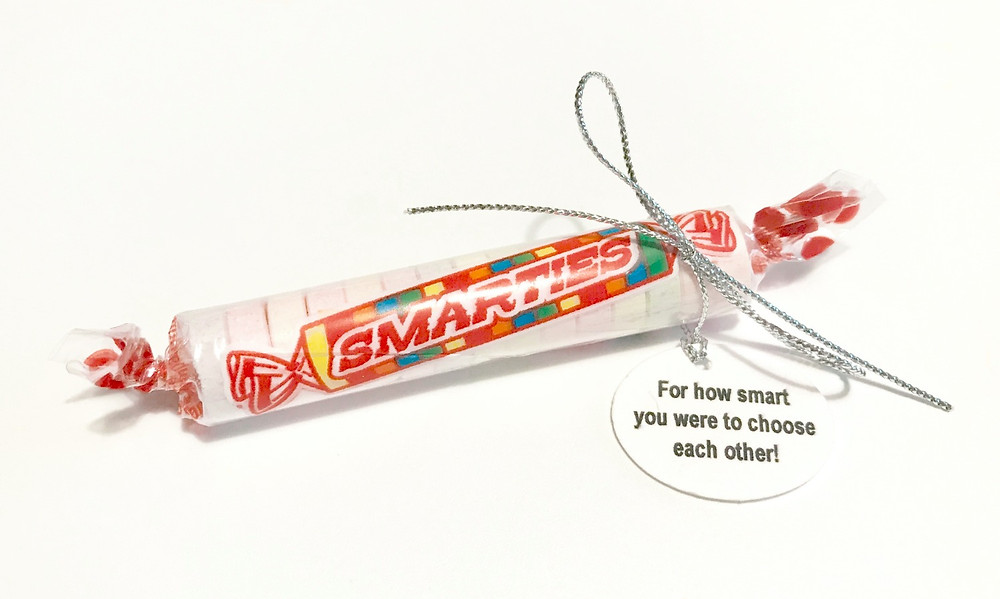 Smarties candies / Make a Wedding Gift-in-a-Can / www.HoneycombOasis.com