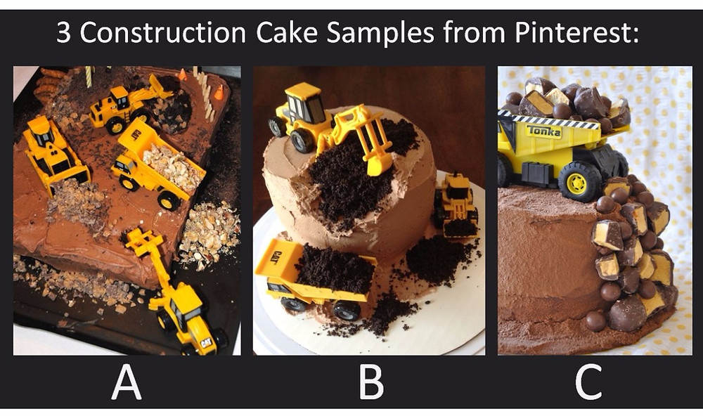 3 Construction Cake Samples / Make a Construction Site Cake! / www.HoneycombOasis.com