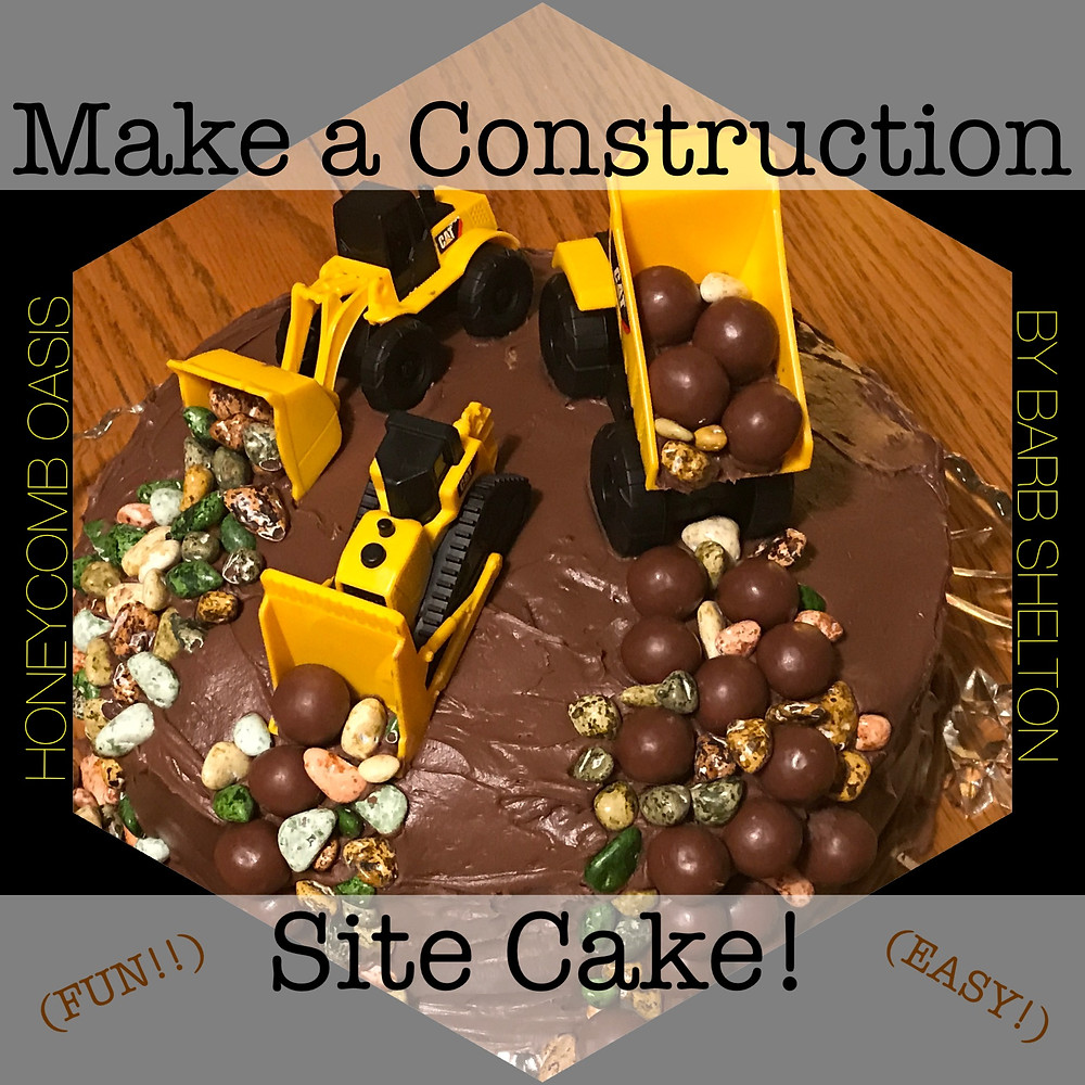 Hexagon pic / Make a Construction Site Cake! / www.HoneycombOasis.com