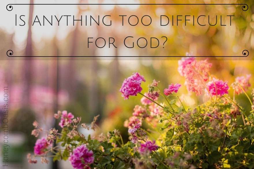 Is anything too difficult for God? graphic / 15 Ways to Renew Your Mind Regarding Weight Loss / www.HoneycombOasis.com