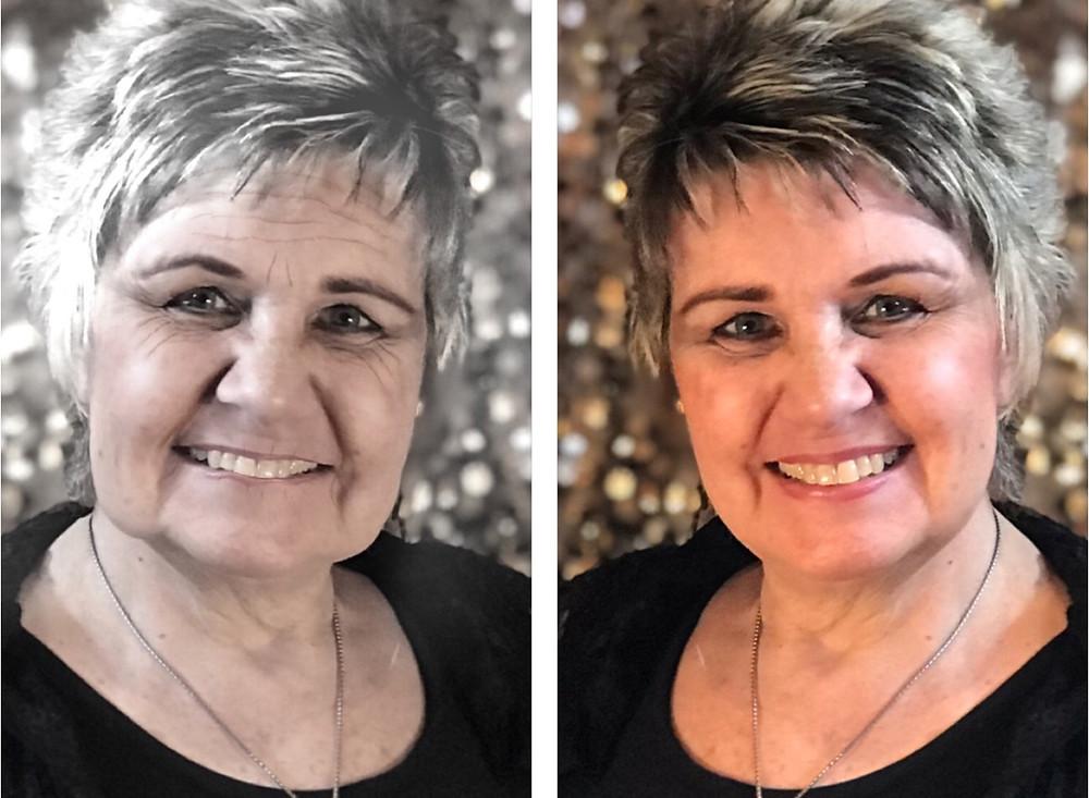 """Older Barb on left; current Barb on right / """"Older Barb"""" Talks to """"Current Barb"""" / www.HoneycombOasis.com"""
