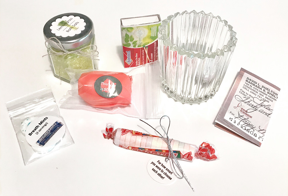 Contents of a can / Make a Wedding Gift-in-a-Can / www.HoneycombOasis.com