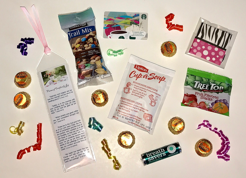 Can of Comfort contents / Gift-in-a-Can: Themes & Contents (Part 1) / www.HoneycombOasis.com