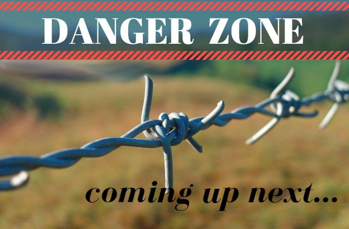 "Danger Zone sign with barbed wire / ""Was He a Good Cop?"" ~ Eyewitnesses Share / HoneycombOasis.com"