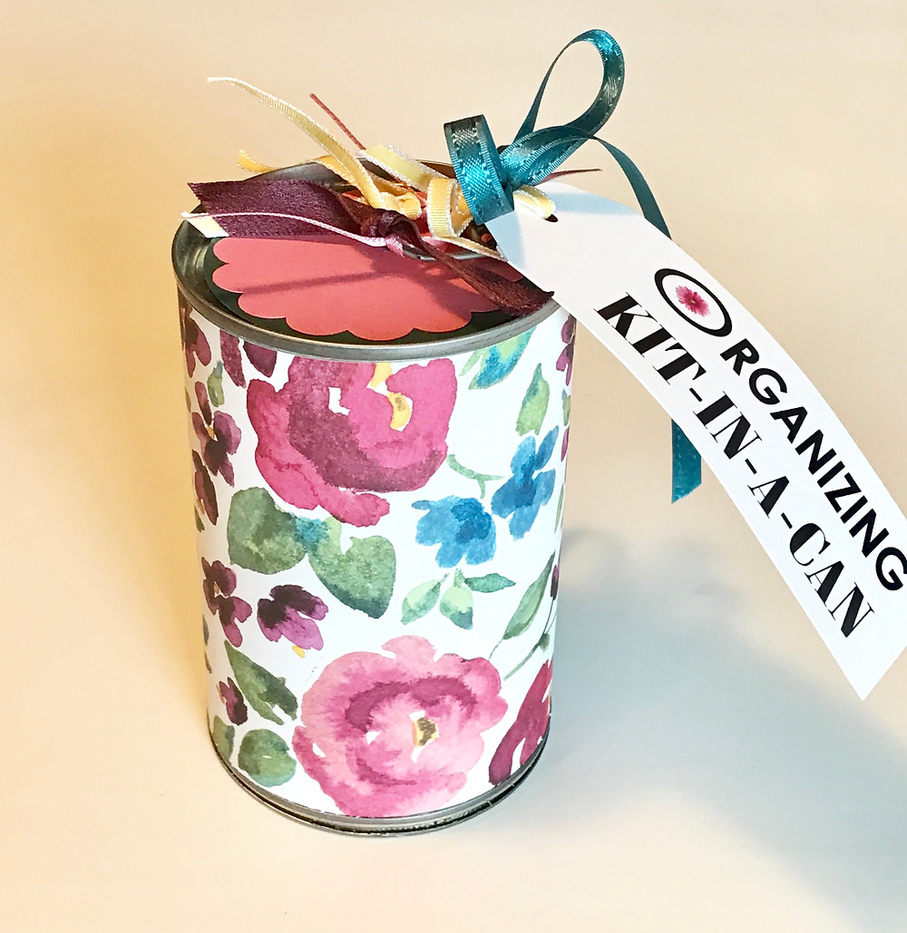 Organizing Kit-in-a-Can - no belly-band / Gift-in-a-Can: Decorating It  (Part 3) / www.HoneycombOasis.com