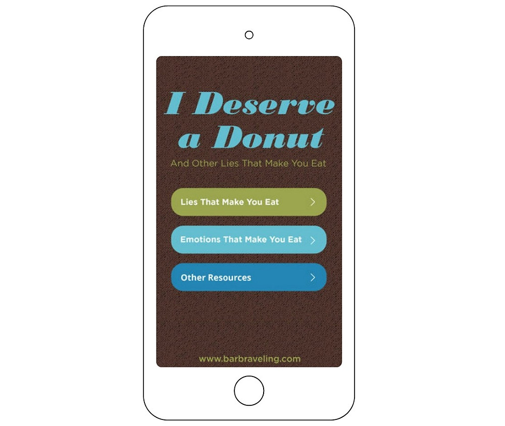 I Deserve a Donut ap on phone / 15 Ways to Renew Your Mind Regarding Weight Loss / www.HoneycombOasis.com
