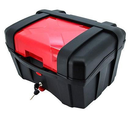 Maletero Baúl Para Moto Tomcat 40 rojo Litros