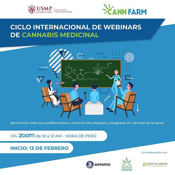 CICLO INTERNACIONAL DE WEBINARS DE CANNABIS MEDICINAL