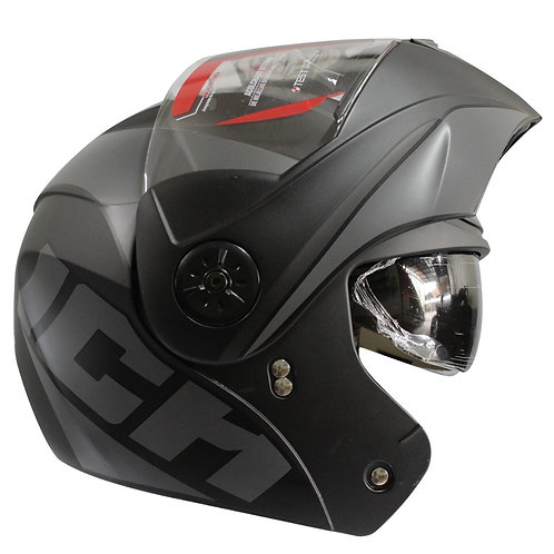Casco Abatible Certificado Ich gris dot