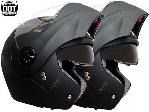 2 Cascos Moto Certificados Abatible Ich Gratis Placas Dot