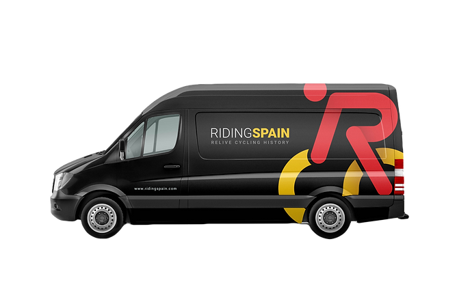 Van shuttle for cyclists, road cycling camps, luxury cycling holidays in Spain, guided tours, www.ridingspain.com