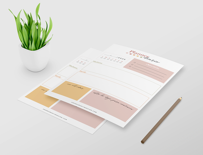 Planner diario imprimible Andreamartinde