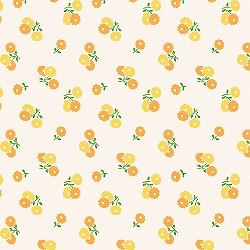 Darling Clementine - Biscuit Flowers Orange Yellow