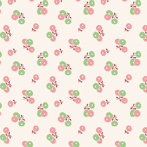 Darling Clementine - Biscuit Flowers Pink Green