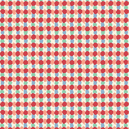 Darling Clementine - Daubs Grid Red