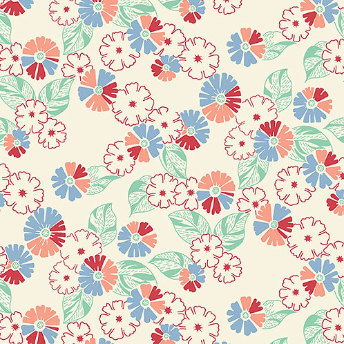 Darling Clementine - Flower Bunches Blue Pink