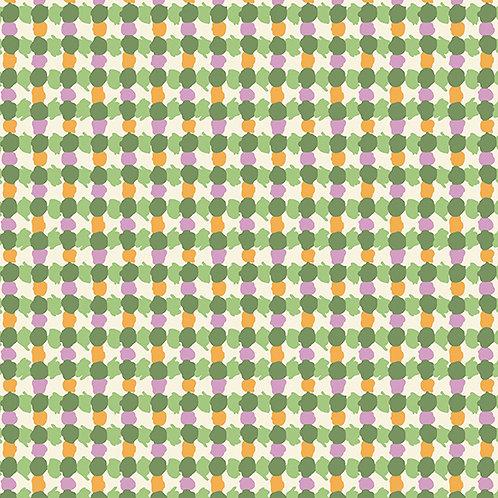 Darling Clementine - Daubs Grid Green