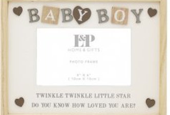 "Baby Boy Frame, 4x6"""