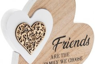 Friends Are Family' Natural Toned Side Heart Block