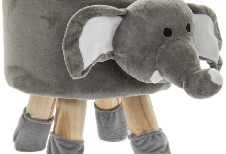 Elephant footstool