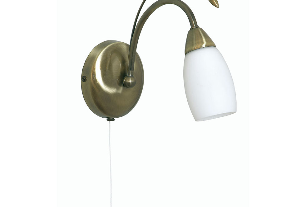 Antwerp 1 Light wall light antique brass