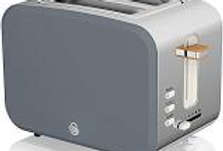 Swan Nordic Style 2 Slice Grey Toaster