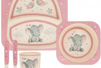 Bird & Ellie Pink Bamboo Dinner Set