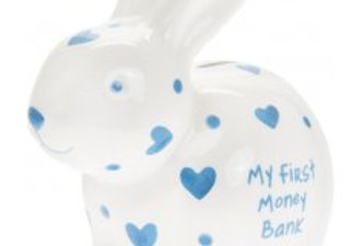 My First Bunny Money Box - Blue