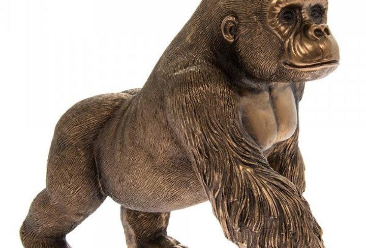Reflections bronzed gorilla