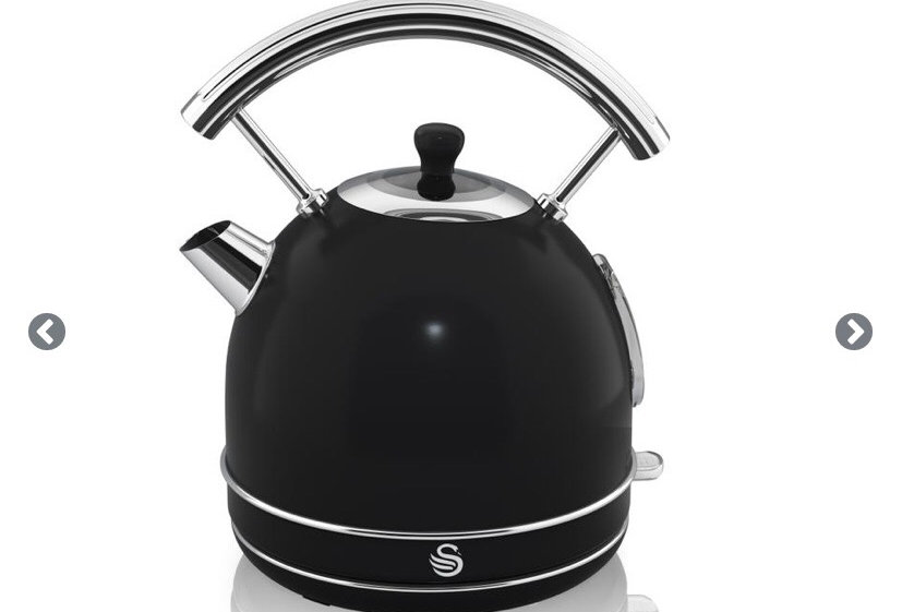 Swan retro dome kettle black