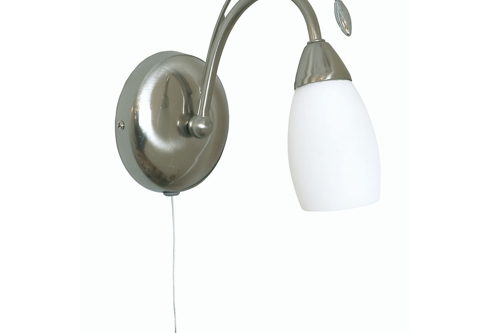 Antwerp 1 Light wall light antique chrome