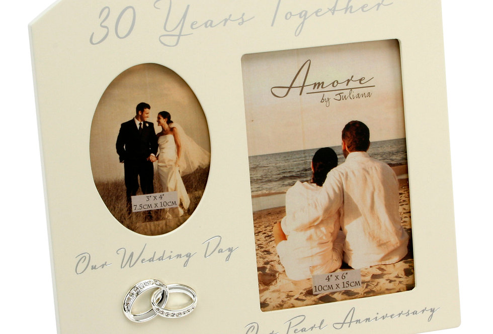 AMORE BY JULIANA® Double Anniversary Frame - 30 Years