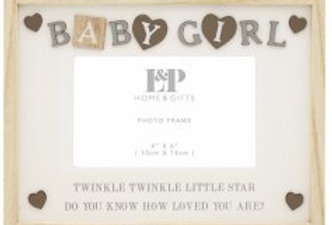 """Baby Girl Frame, 4x6"""""""