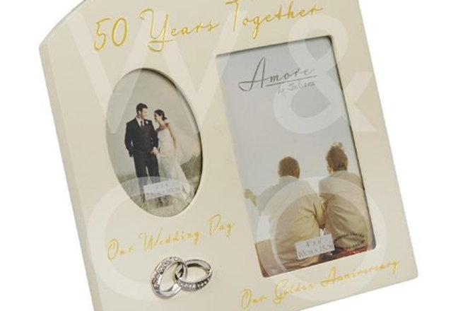 AMORE BY JULIANA® DOUBLE ANNIVERSARY FRAME - 50 YEARS