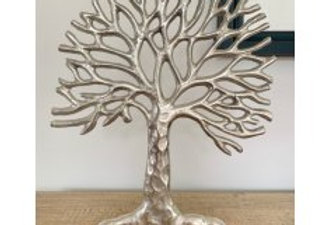 36CM ALUMINIUM TREE OF LIFE ON BASE