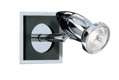 Comet Aluminium Chrome Black Spotlight Wall Bracket