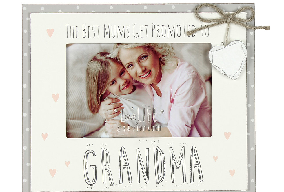"6"" x 4"" - Love Life Photo Frame - Promoted to Grandma"