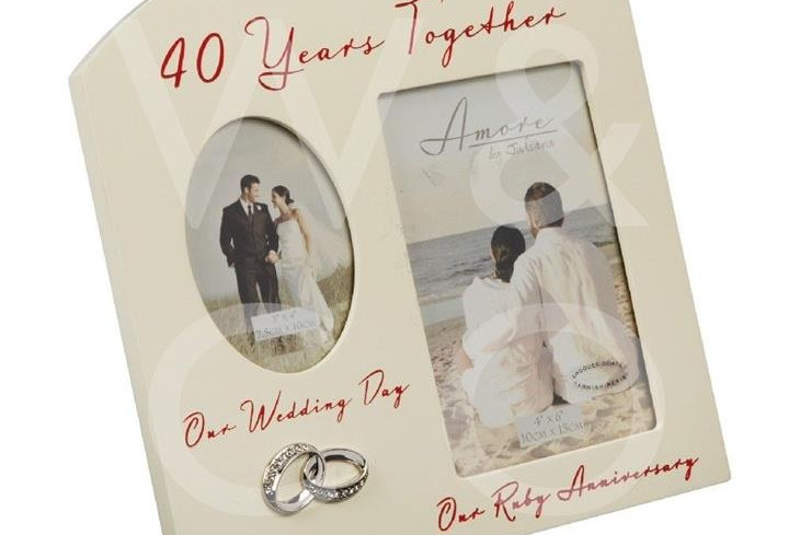 AMORE BY JULIANA® DOUBLE ANNIVERSARY FRAME - 40 YEARS