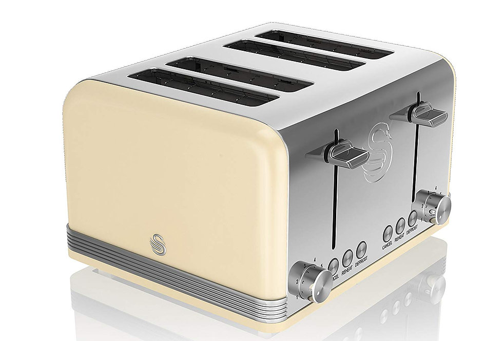 Swan retro 4 slice cream toaster