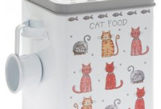 FAITHFUL FRIENDS CAT FOOD TIN, 25CM