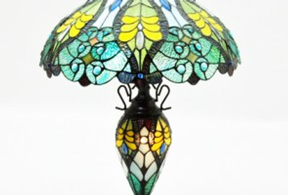 "18""Double Light Tiffany Lamp"