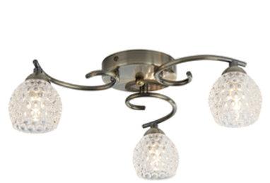 Searchlight Minnie 3 light antique brass