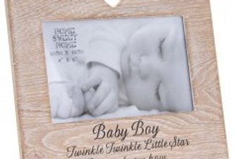 Sentiments Heart Frame Baby Boy