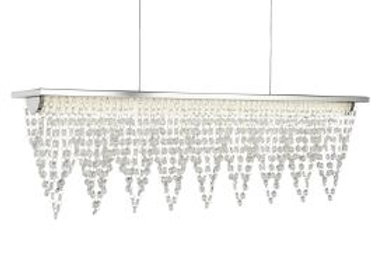 Led Ceiling Bar, Chrome, Crystal Waterfall Dressing