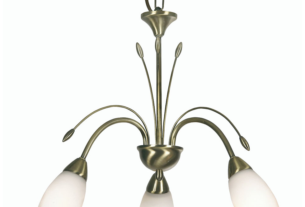 Antwerp 3 Light antique brass