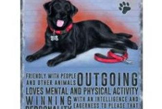 Black Labrador Sign