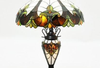 "18""Multi-Colour Double Light Tiffany Lamp"