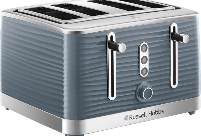 Russell Hobbs inspire 4 slice toaster grey